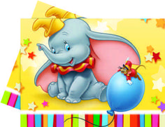 Disney 180 x Plastic Dumbo Table Cover Dumbo Birthday Party, 3rd Birthday Parties, Birthday Ideas, Birthday Celebrations, Boy Birthday, Dumbo Baby Shower, Baby Shower Themes, Shower Ideas, Glow Party