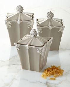 Baroque Canisters, Three-Piece Set at Neiman Marcus.
