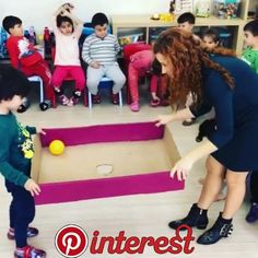 Diy Crafts - Team building is an important quality that needs to be vaccinated in childhood. Team building activities or games are interesting and con Team Building Activities, Motor Activities, Infant Activities, Movement Activities, Indoor Activities, Gross Motor, Business For Kids, Diy Crafts For Kids, Kids Diy