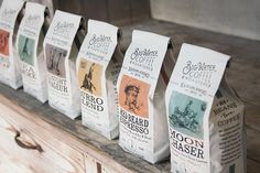 Big Water Coffee. Classic newspaper look. #packaging (More design inspiration at www.aldenchong.com)