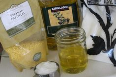 ∆ Body Lotion...How to Make an Easy Beeswax Lotion. I love that I know what all of the ingredients are....