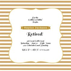 Party Invitations Templates Free Downloads Retirement Party Invitation Gold And Silver Or Pick Any Color Accent .