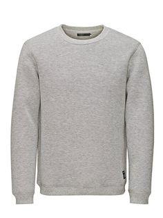 Jack & Jones Neopren- Sweatshirt für 39,95€. Neoprenmaterial für einen markanten Look, Das Model trägt Größe L und ist 187 cm groß, CORE by JACK & JONES bei OTTO