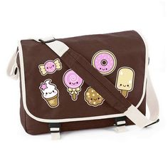 Kawaii Sweets Messenger Bag at shanalogic.com