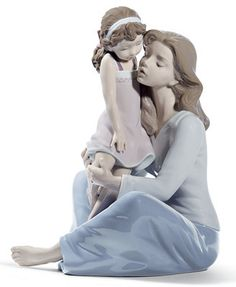 Cherished moments. The perfect gift for Mother's Day, Lladro's exquisitely crafted porcelain figurine honors the special bond between mother and daughter. | Porcelain | Hand spot clean | Made in Spain