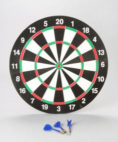 Dart Board. An oldie but a goodie! Introduce your littl'un to the classic game of darts with this fantastic dart board set. A great game for the whole family, bond over staple games such as 'Round the Clock' and 'Jumpers' - sure to bring out their competitive side. And once the kids are in bed, let's not pretend you won't be practicing your best shot at bullseye!