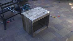 Large reclaimed wood serving tray with rope handles fas - Construire une table de chevet ...