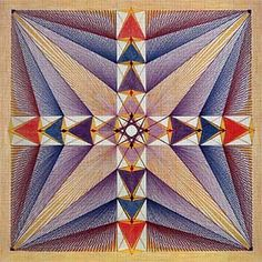Sacred Geometry: Healing drawings by Swiss artist Emma Kunz. Her pieces were never meant to be displayed on a museum wall, but to lie on the floor between Kunz and one of her patients to function as diagrams and aid to meditation for the locating of a patient's lifeline.