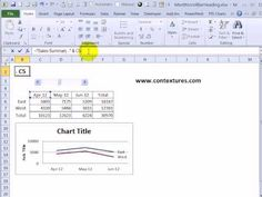 Excel chart title shows selected date range; use scroll bar to pick dates