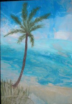 Collagen - Strand - Enkaustik - ein Designerstück von PerpetuumElementica bei DaWanda