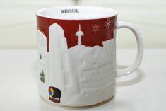 soeul (7) Starbucks City Mugs, Seoul, Tableware, Red, Hipster Stuff, Dinnerware, Tablewares, Dishes, Place Settings
