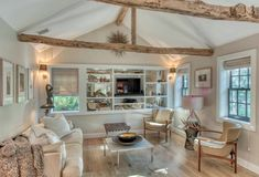 Located on a coveted street in Sag Harbor Village, this charming 1874 cottage has been completely restored with cathedral ceilings exposing the original wooden beams in both the living and office areas. Open House: Oct 26, 2019 | 12:30 pm - 2:30 pm at 128 Glover St, Sag Harbor. Reach out to Michael Gary, Assoc. RE Broker, 631.897.5969.   #openhouse #luxuryrealestate #hamptonsrealestate #hamptons #sagharbor #vacationhomes #luxurylisting #milliondollarlisting #luxuryliving #interiordesign