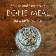 How to make bone meal for a better garden! It's so easy to make your own bone meal from leftover bones. Great for healthy roots for houseplants too! Organic Gardening Tips, Organic Fertilizer, Vegetable Gardening, Garden Fertilizers, Veggie Gardens, Organic Farming, Bone Meal For Plants, Garden Soil, Garden Tips
