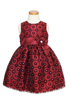 Sorbet Flocked Organza Dress (Toddler Girls & Little Girls) available at #Nordstrom