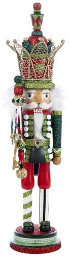Kurt Adler Hollywood Red and Green Nutcracker with Crown, 20-Inch - List price: $86.00 Price: $64.94