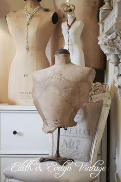 Rare Antique French Wasp Waist Mannequin Bust