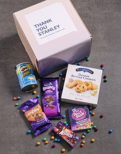 Personalised Thank You Gourmet Box Domestic Worker, Heart Place, Show Appreciation, Snack Recipes, Snacks, Gourmet Gifts, Thank You Gifts, Pop Tarts, Bubbles