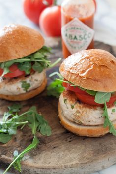 Tabasco Chicken Burgers from What's Gaby Cooking
