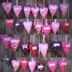 """These scented heart sachets are perfect for Valentine's Day or Sweetest Day. Each one has sweet word or phrase such as """"Muah!"""", """"I Love Us,"""" """"Like FOR Ever"""", """"Hugs & Kisses,"""" Love You More"""" just to name a few. There are also special ones for someone close to your heart who is fighting breast cancer. These include sayings such as """"Cancer Sucks!,"""" """"Survivor,"""" """"Hang In There,"""" """"Courage,"""" """"Hope,"""" """"Strength,"""" and """"Fight Like a Girl""""."""