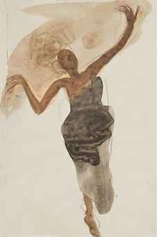 Auguste Rodin, Danseuse cambodgienne, 1906-7, gouache and watercolour on paper, 30 x 20 cm. ​From christies.com.