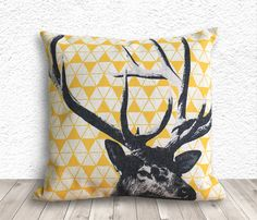 Pillow Cover Pillow Case Cushion Cover Deer Pillow by 5CHomeDecor
