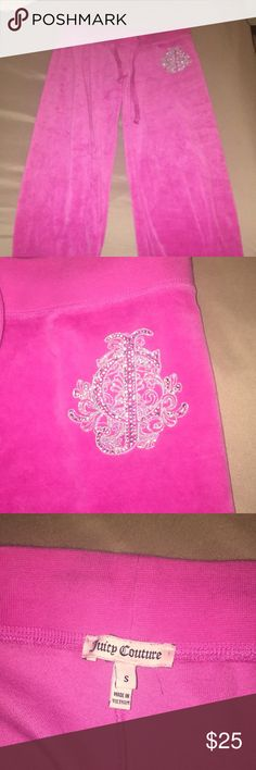 Juicy Couture Sweat Pants Hot pink S Juicy Couture sweatpants. Worn a few times, barely signs of wear on the bottom of pant legs Juicy Couture Pants Track Pants & Joggers