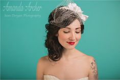 Ivory Birdcage Veil @Margaret Jankauskis - Can you make something like this for me?