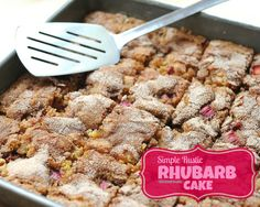 Rhubarb Cake, one of Kitchen Parade's Best Recipes of 2013