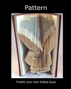 Bunny Boy Head  Book Fold PATTERN~Folded Book art Patterns~BunnyBoy Head pattern