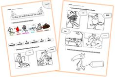 Le loup qui voulait changer de couleur -exercices French Kids, Grande Section, Read Aloud, Comprehension, Elementary Schools, Back To School, Album, Projects To Try, Teaching