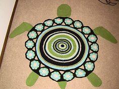Sea Turtle Rug Free Crochet Pattern