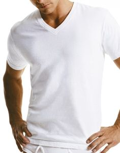 Calvin Klein Cotton Short Sleeve V-Neck T-Shirt 3-Pack. - yes I'm serious