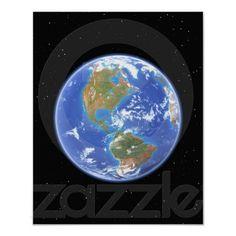 Western Hemisphere of Earth Print