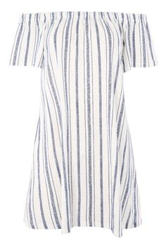 PETITE Stripe Bardot Dress