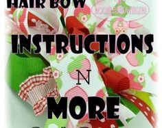 Free Baby Hair Bow Instructions | ... Hair Bow Instructio ns and more The Works by DoodlesBowtique Diy free