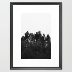 Crest  Framed Art Print by ARTbyJWP on society6  #framedart #framedprints #framedartprint #framedartprints #walldecor #wallart #wallartdeco #decoration #trees #mountains #artprints #abstract #blackandwhite #photography