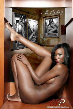 Nude Ebony Warrior Woman 52