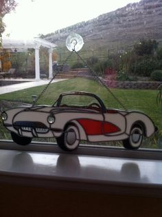 57 Corvette by GlassArtbyCheryl on Etsy,
