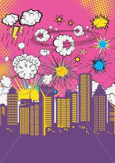 Super Girl Comic Book Backdrop Super Hero Party by FabDrops