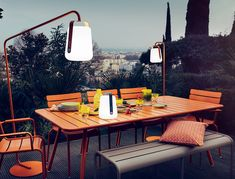 We are the partner for Fermob in New Zealand. Discover products in the Fermob Luxembourg Outdoor Furniture Collection here. Visit the NZ Fermob experts! Outdoor Dining, Outdoor Tables, Outdoor Spaces, Dining Table, Outdoor Decor, Dining Set, Table Lamp, Garden Lanterns, Garden Lamps