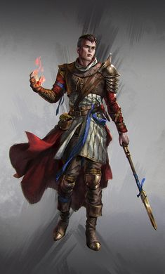 Celestial warlock - DnD Warlock Guide, Rules and Spells Fantasy Male, Fantasy Armor, Medieval Fantasy, Fantasy Heroes, Dungeons And Dragons Characters, Dnd Characters, Fantasy Characters, Fantasy Character Design, Character Concept