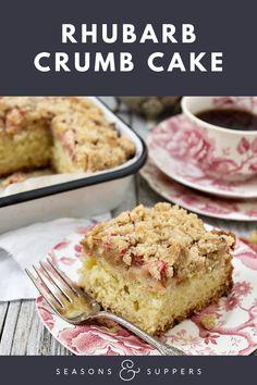 Rhubarb Coffee Cakes, Rhubarb Cake, Baking Recipes, Cake Recipes, Rhubarb Recipes, Little Cakes, Round Cake Pans, Breakfast Cake, Sweet Tarts