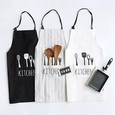 Perfect Professional Stripe Chef Cooking Apron for Baking Cooking BBQ IVYRISE Trendy Pretty Kitchen Apron with Convenient Front Pockets