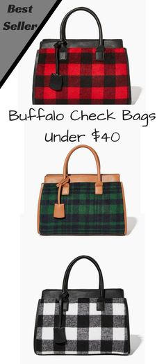 I am loving these buffalo check bags, one of these will be on my Christmas list!! #buffalocheck #handbag #purse #affiliate #fashion #charmingcharlie #fallandwintertrends