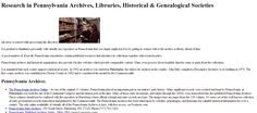 Pennsylvania #Genealogy 101  Great Pennsylvania links!