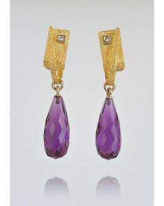 MARCO BORGHESI - Earrings: Gold, Diamonds and Amethyst -  #borghesi - #marcoborghesi - #veronaforever - #orodesign - #pendant - #amethyst