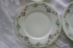 Beautiful Set of Four Luncheon Plates by by LindsayJanesCottage, $30.00