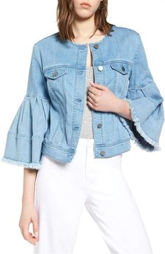 A classic denim jacket will never go out of style, but sometimes we just need to shake things up. Give your beloved trucker-cut a break and try one of these 17 styles instead. Blazers For Women, Coats For Women, Winter Coat, Going Out, Bell Sleeves, Raincoat, Nordstrom, Jackets, Shopping