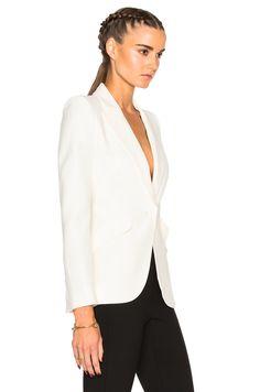 Hình ảnh 3 của Alexander McQueen Blazer trong Silk trắng