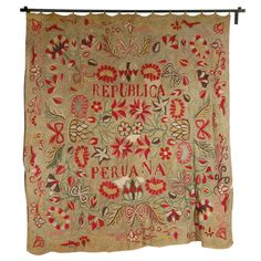 Antique Peruvian Tapestry | From a unique collection of antique and modern textiles and quilts at http://www.1stdibs.com/furniture/more-furniture-collectibles/textiles-quilts/